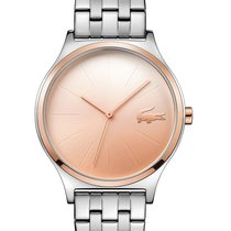 Lacoste Nikita Womens Watch - Rose Gold-Tone Dial - Stainless...