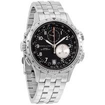 Hamilton Men's H77612133 Khaki Eto Black Chronograph Dial...