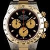 Rolex S/G Black Newman Dial Cosmograph Daytona B&amp;amp;P 116523