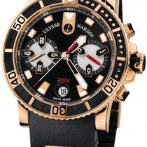 Ulysse Nardin Maxi Marine Diver Chronograph Black Dial 18...