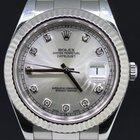 Rolex Datejust II steel rhodium diamond dial