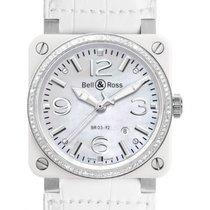 Bell & Ross Aviaion BR03 White Ceramic Diamonds