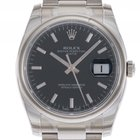 Rolex Oyster Perpetual Date Stahl Automatik 34mm Ref.115200