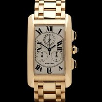 Cartier Tank Americaine Chronograph 18k Yellow Gold Gents...