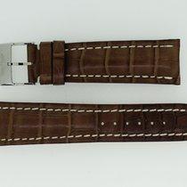Breitling Krokolederband 24/20 Länge 130/80 Braun mit Dornschl...