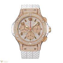 Hublot Big Bang 41mm White Gold Diamonds Rubber Unisex Watch