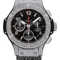 Hublot Big Bang Stainless steel Chronograph Diamonds Rubber...