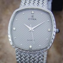 Cyma Swiss Diamond Unisex 1980s Quartz Luxury Stainless 30mm...