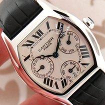 Cartier Tortue Perpetual Calendar 18k White Gold Auto Men Watch
