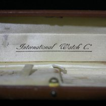 IWC rare vintage watch box leather light brown good condition