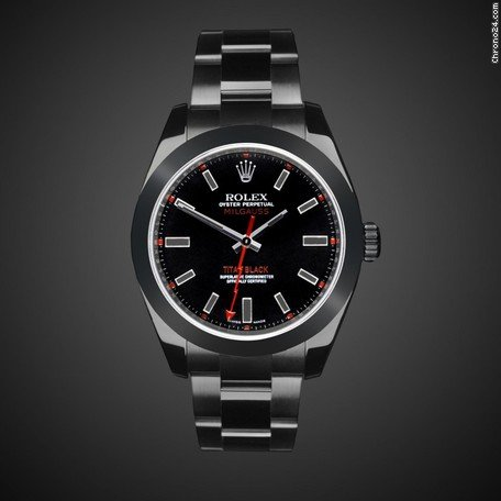 Rolex MILGAUSS (Manhattan) TITAN BLACK DLC / PVD