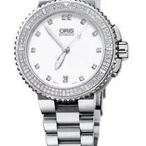 Oris Aquis Date Diamonds, Diamond Set, Steel Bracelet