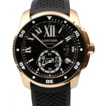 Calibre de Cartier Diver Men's 42mm 18k Rose Pink Gold...
