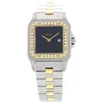 Cartier Rare Cartier Santos 18k Yellow Gold & SS Automatic...