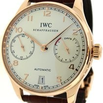 IWC Portuguese 18K Rose Gold 8 Day Automatic Watch IW500113