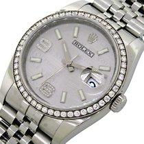 Rolex Datejust, Rhodium Wave Diamond Dial & Bezel