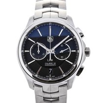 TAG Heuer Link Automatic Chronograph Stainless Steel Black...