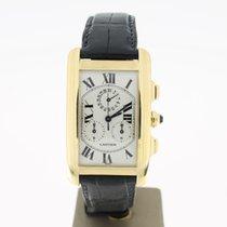Cartier Tank Americaine Chronoflex 18K YellowGold (B&P2001...