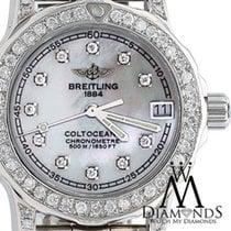 Breitling Womens Diamond Breitling Colt 33mm White Mop Dial...