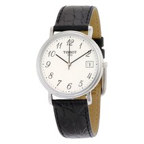 Tissot T-Classic White Dial Black Leather Mens Watch T52.1.421.12