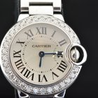 Cartier BALLON BLEU LADY SIZE  WHITE GOLD & DIAMONDS