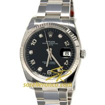 Rolex Oyster Perpetual Date 34mm Black Diamonds