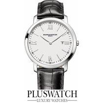 Baume & Mercier Classima White Dial Black Leather Strap...