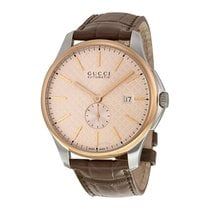 Gucci G-Timeless Large Automatic Rose Gold-tone Dial Men's...