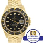 Rolex GMT Master 16758 18k Yellow Gold Jubilee Black Dial 40mm...
