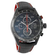 TAG Heuer Carrera Mens Onyx Tone Automatic Chronograph Watch...