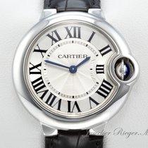 Cartier BALLON BLEU MEDIUM 33 mm EDELSTAHL LEDER W6920086...