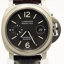 Panerai Luminor Pam240 Titanium Automatic Date Tobacco Dial L...