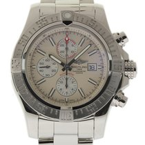 Breitling Super Avenger II A13371 Stainless Steel Box/Paper/2Y...