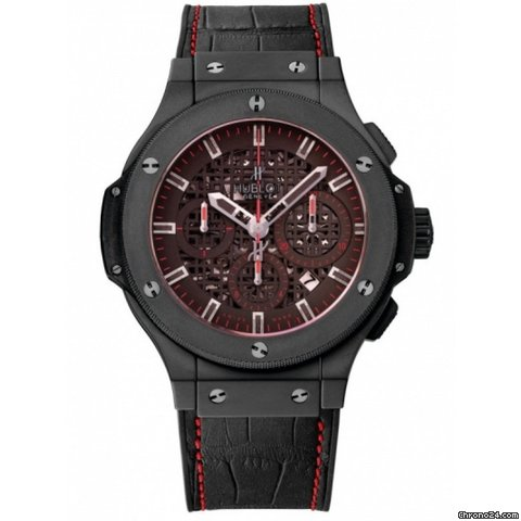 Hublot Aero Bang Watch Jet Li Ceramic Black Skeleton Gummy Rubber: 311.CI.1130.GR.JLI11