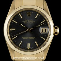 Rolex 18k Yellow Gold O/P Grey Baton Dial Mid Size Datejust 6824