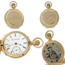 Elgin Solid 14k Gold 15J Hunter Pocket Watch 18s 140g
