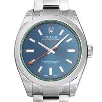勞力士 (Rolex) Milgauss GV Blue Dial Green Crystal Mens 40mm...