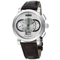 Paul Picot Technograph 44mm Automatic Chronograph Silver Dial...