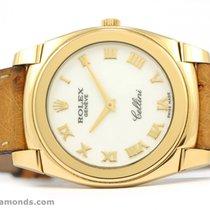 Rolex Cellini Cestello 5330 White Roman 18k Yellow Gold 36mm...