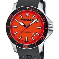 Wenger Mens Sea Force Dive Watch - Stainless -  Orange  -...