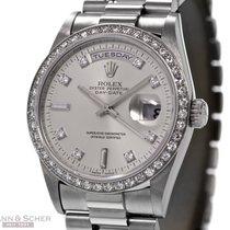 Rolex Day-Date Ref.-18346 Platinum Diamond Bezel and Dial