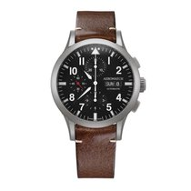 Aerowatch The Grand Classics Pilot Black Dial Automatic...