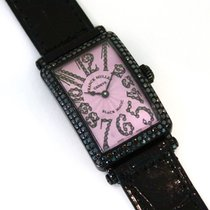 "Franck Muller Long Island ""black Magic"" 18k White Gold..."