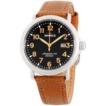 Shinola The Runwell Black Dial Leather Strap Men's Watch...