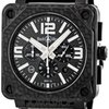 Bell &amp; Ross Aviation Black Carbon Fiber Chronograph...