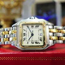 Cartier Panther Panthere 18k Gold Stainless Steel Roman...