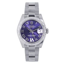 Rolex Datejust 31 Steel 24 Diamond Bezel Purple Dial