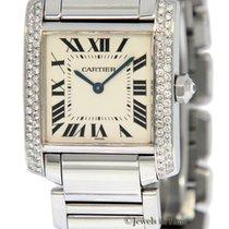 Cartier Tank Francaise Stainless Steel Diamond Quartz Ladies...