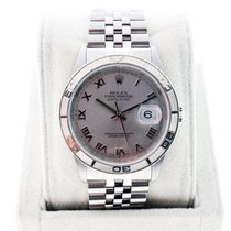 Rolex Datejust 16264 Turnograph watch with Rhodium Roman...