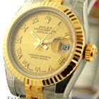 Rolex Datejust Stee / Yellow Gold Champagne Dial 26mm Ref. 179173